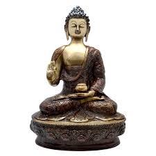 handicrafted brass statue of lord buddha buy buddha online