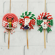 sale santa claus deer lollipop decor