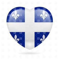 Design A Flag Free I Love Quebec Heart With Flag Design Royalty Free Vector Clip Art
