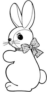 cute rabbit ribbon coloring free printable coloring pages