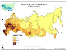 russia map by population russia population distribution wasatch economics