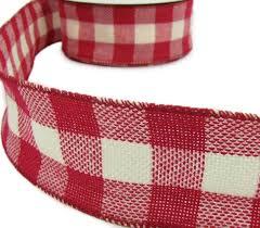 3 yds white plaid burlap jute like wired ribbon 2 1