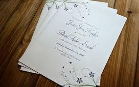 Folded Wedding Programs Custom Wedding Programs