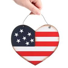 americana flag wood sign signs ornaments home decor