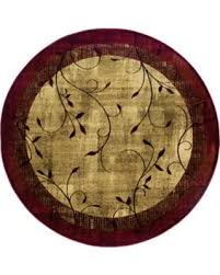Nature Area Rugs Sweet Deal On Allen Roth Tinsley Red Round Indoor Machine Made