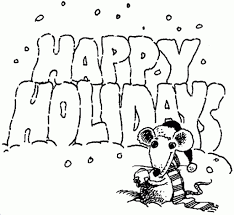 happy holidays coloring pages to invigorate in coloring images