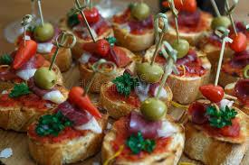 canap es 70 pinchos tapas canapes finger food stock image