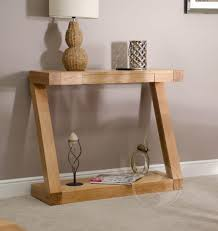 narrow console table for hallway adorable z shape solid oak hall console table furniture uk small