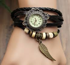 girls leather bracelet images Handmade leather strap watches woman girl quartz wrist watch jpg