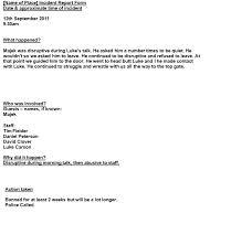 doc 585650 sample incident report form u2013 incident report