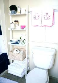 White Standing Shelves Marvelous Small Apartment Bathroom Ideas