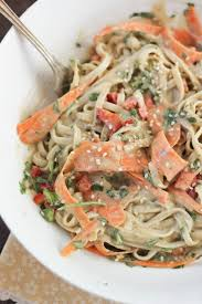 noodle salad recipes cold udon noodle salad with tahini wasabi dressing bake your day