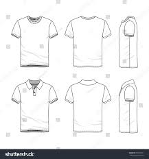 clothing set blank vector templates white stock vector 658935931