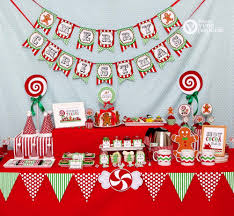 christmas sweet shoppe holiday party diy printable