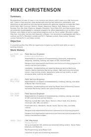 Engineering Resume Examples by It Field Engineer Sample Resume 2 Field Service Engineer Resume