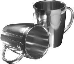 silver mug set of two steel mugs silver steel mug reklámajándék hu ltd