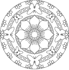mandalas coloring pages for kids to print color with simple