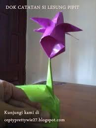 cara membuat origami bunga yang indah tutorial cara membuat origami batang bunga tulip dengan mudah