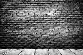 Dark Room Dark Room With Tile Floor And Brick Wall Background Stock Photo