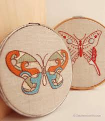 embroidery designs modern butterflies embroidery