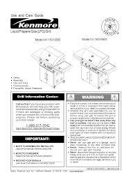 kenmore gas grill 141 16315800 user guide manualsonline com