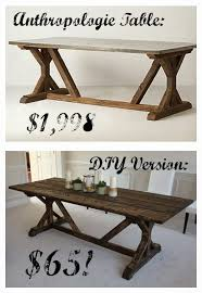 Anthropologie Dining Room Diy Anthropologie Table Honestly I Like The Look Of The Diy One