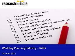 Indian Wedding Planner Book Market Research Report Wedding Planning Industry In India 2011