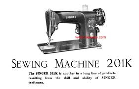 singer 201 k instruction manual