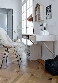 coin bureau dans salon aménagement bureau style scandinave dans salon