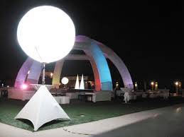 Outdoor Lighted Balls by Ad Haven Advertising