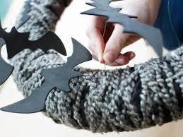 outdoor halloween decoration flying bat wreath hgtv