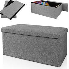 stool bench 80 x 38 x 40 cm ottoman storage box bench stool cube