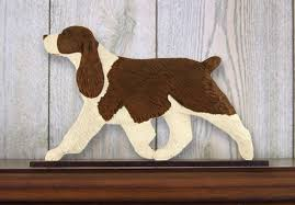 springer spaniel figurine sign plaque display wall