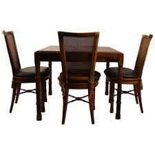 Henredon Bedroom Furniture Used Card Table With Four Chairs By Heritage Henredon For Sale At 1stdibs