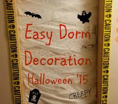 easy halloween dorm decoration youtube