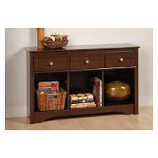 Storage Console Table by Viva Basics Espresso Living Room Storage Console Table The