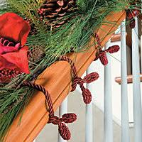 How To Decorate Banister With Garland How To Hang Garland Improvements Blog