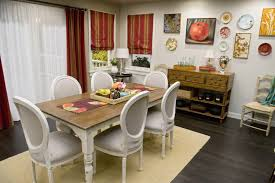 dining rooms white fabric chair dark wood floor area rug wooden
