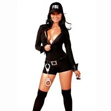 Fbi Halloween Costume Disfraces Mujer Oficial Fbi Halloween Entrega Express 139 900