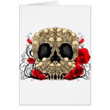 skull cards invitations zazzle co uk