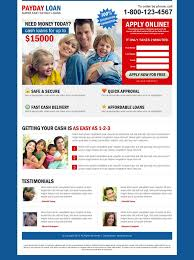 clean and converting payday loan landing page design to boost your