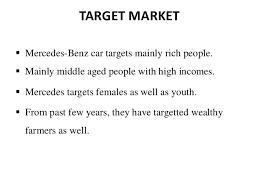 mercedes market mercedes marketing stp
