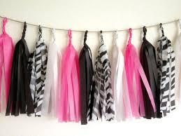 zebra tissue paper hot pink zebra tissue paper tassel garland party wedding baby