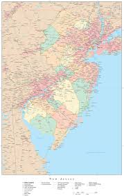 Interstate 78 In New Jersey Wikipedia Detailed Map Of New Jersey State Political Subdivisions Vidiani