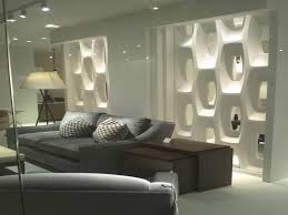 adorable tempered glass wall partition for apartment with lighting