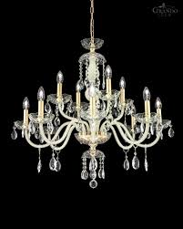 Crystal And Gold Chandelier 104 8 4 Ch Gold Leaf Ivory Crystal Chandelier With Swarovski