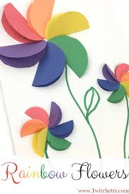 construction paper crafts for kids rainbow flowers scissor