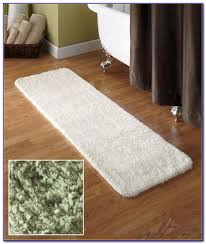 Bathroom Runner Rug Cloud Step Memory Foam Ivory 24x60 Bath Rug Rugs With Regard To 24