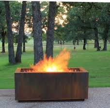 wood burning fire table linear wood burning fire pit with a gas ring