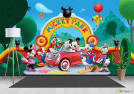 children s wallpaper wall murals disney parcul mickey maus children s wallpaper wall murals disney parcul mickey maus fototapet art eco friendly digital wallpaper on a wall for childrens rooms online
